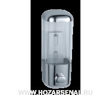 Дозатор для мыла  прозрачный (хром)