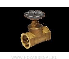 Вентиль водяной, латунный Ду 32  Украина