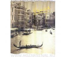 """Шторка для ванной, фотопринт """"Венеция"""" 180х180см"""
