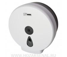 Бумагодержатель (контейнер) для туалетной бумаги, белый, с глазком с ключем