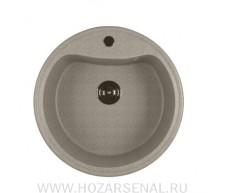 Мойка ML-GM09 круглая, серая (310), 490мм в комплекте с сифоном 3 1/2, герметик