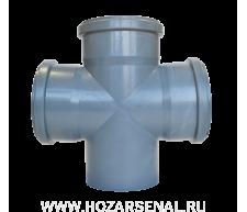 Крестовина канализационная полипропиленовая d-110x110x110 мм угол 90*