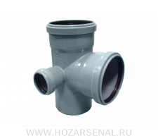 Крестовина канализационная 2-х плосткостная полипропиленовая d-110x110x50 мм угол 90* левая