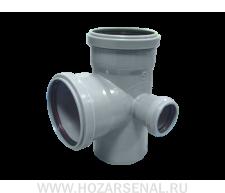 Крестовина канализационная 2-х плосткостная полипропиленовая d-110x110x50 мм угол 90* правая