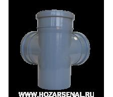 Крестовина канализационная 2-х плосткостная полипропиленовая d-110x110x110 мм угол 90*