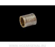 Муфта латунная никелированная (d-25)