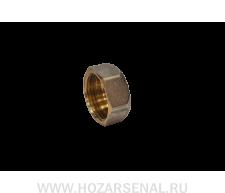 Заглушка латунная никелированная (d-15 в)