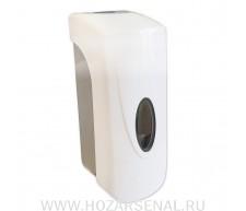 Дозатор для мыла пластиковый, белый, с глазком 350мл GFmark