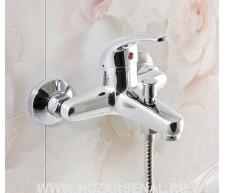 """Смеситель для ванны """"Modern"""" шаровый, короткий литой нос SB47, латунь"""