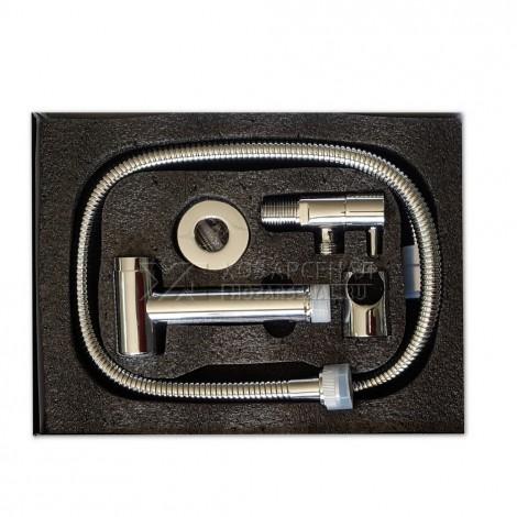 GFmark - Набор биде гигиенический , кнопочный ( кран + лейка + шланг) хромированный