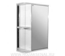 Зеркало-шкаф Стандарт 500 правый белый, ПВХ