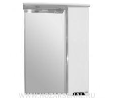 Зеркало-шкаф Прометей 650 правый, со светильником, белый, Крашеный