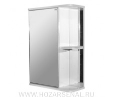 Зеркало-шкаф Стандарт 500 левое белый, ПВХ