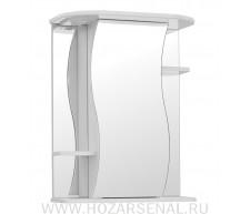 Зеркальный шкаф для ванной комнаты Лилия 650 правый белый