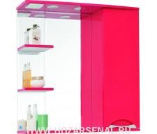 Зеркало-шкаф Жасмин 750 правый со светильником, красный