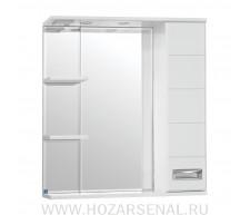 Зеркало-шкаф Ирис 750 правый со светильником, белый