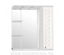 Зеркало-шкаф Канна 760 правый, со светильником, белый