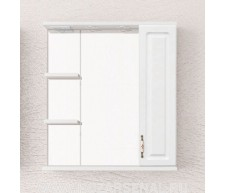 Зеркало-шкаф Олеандр-2 750, со светильником, Белый