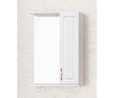 Зеркало-шкаф Олеандр-2 550, со светильником, белый