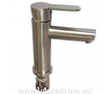 MAGNUS Смеситель для умывальника, литой корпус, шаровый, нержавеющая сталь (Aisi 304)