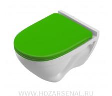 """Подвесной унитаз """"Attica  Color Green"""" микролифт"""